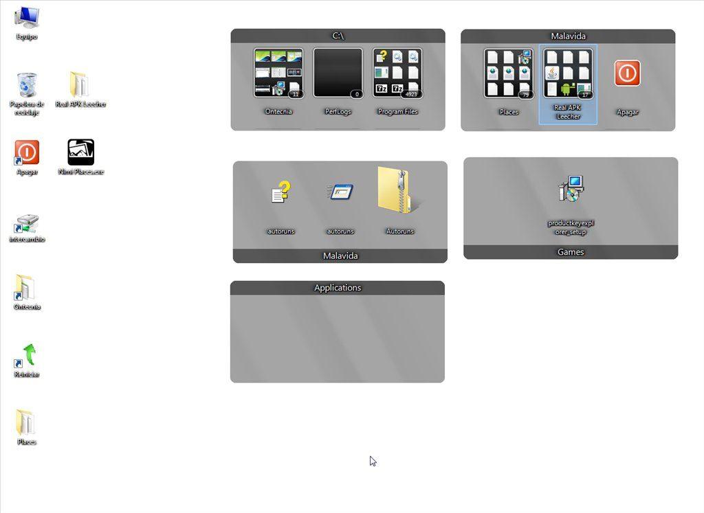 come organizzare le icone su desktop