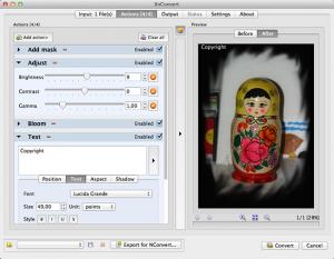 ridimensionare foto con mac