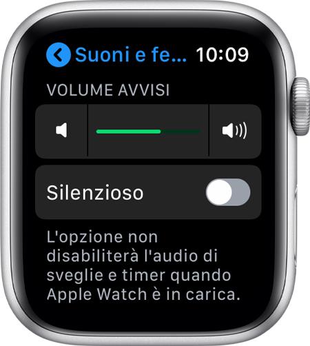 spegnere apple watch