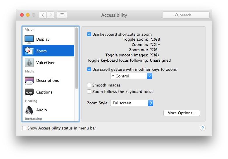 zoomare schermo in mac