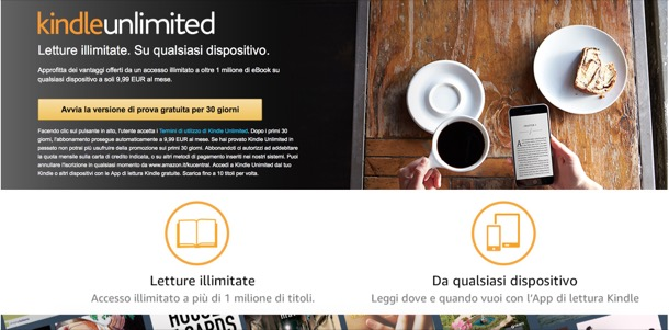 come funziona amazon kindle unlimited biblioteca
