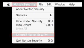 disinstallare norton antivirus macos