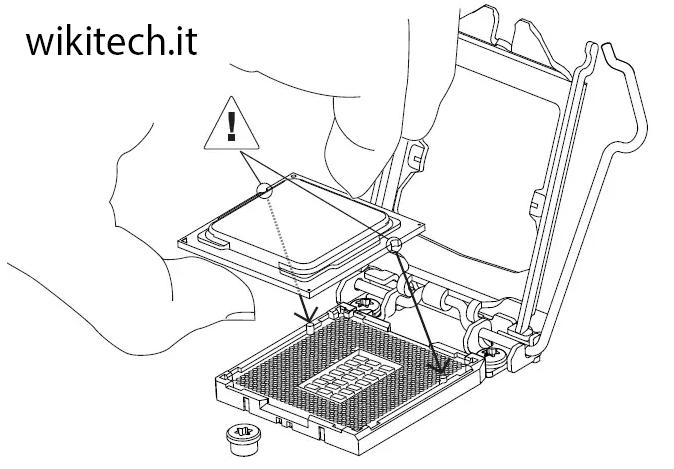 inserire processore in cpu