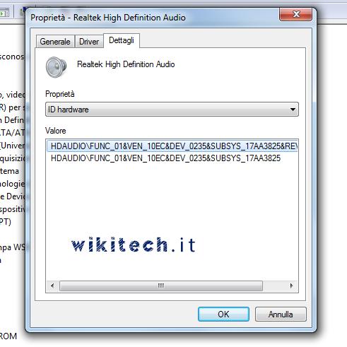 aggiornare driver audio notebook
