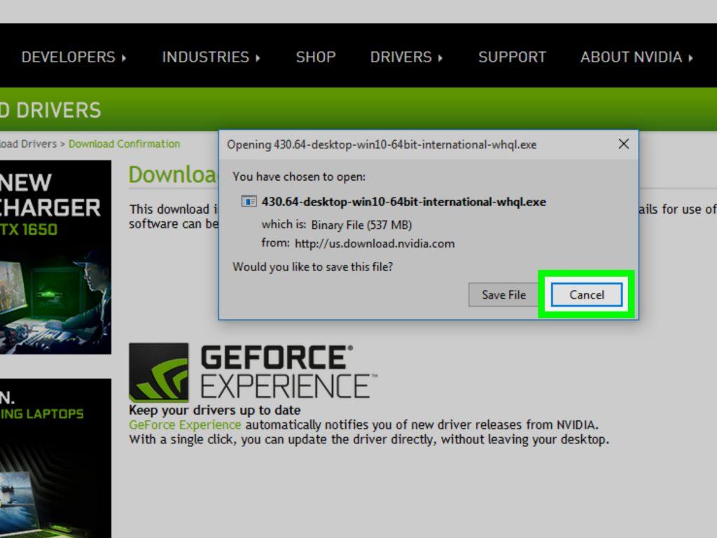 aggiornare driver scheda video nvidia geforce
