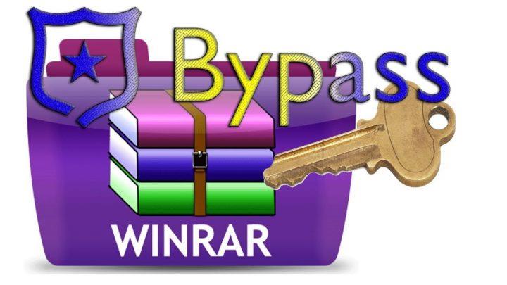 bypassare password winrar