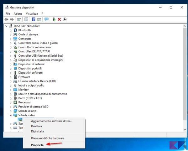 controllare scheda video aggiornamento driver
