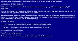 controllare ssd guasto di un computer blue screen