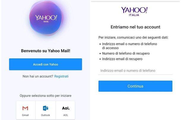 recuperare reimpostare password yahoo