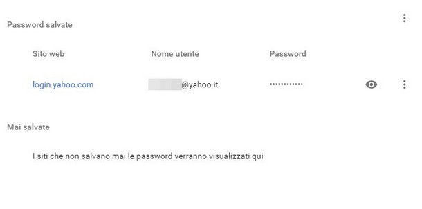 recuperare reimpostare password yahoo-chrome
