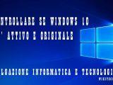 Controllare se windows 10 è attivato