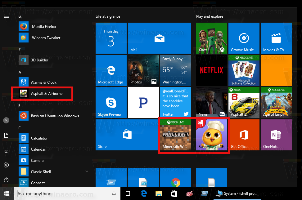come mettere app su desktop windows 10