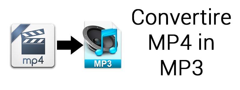 convertire mp4 in mp3