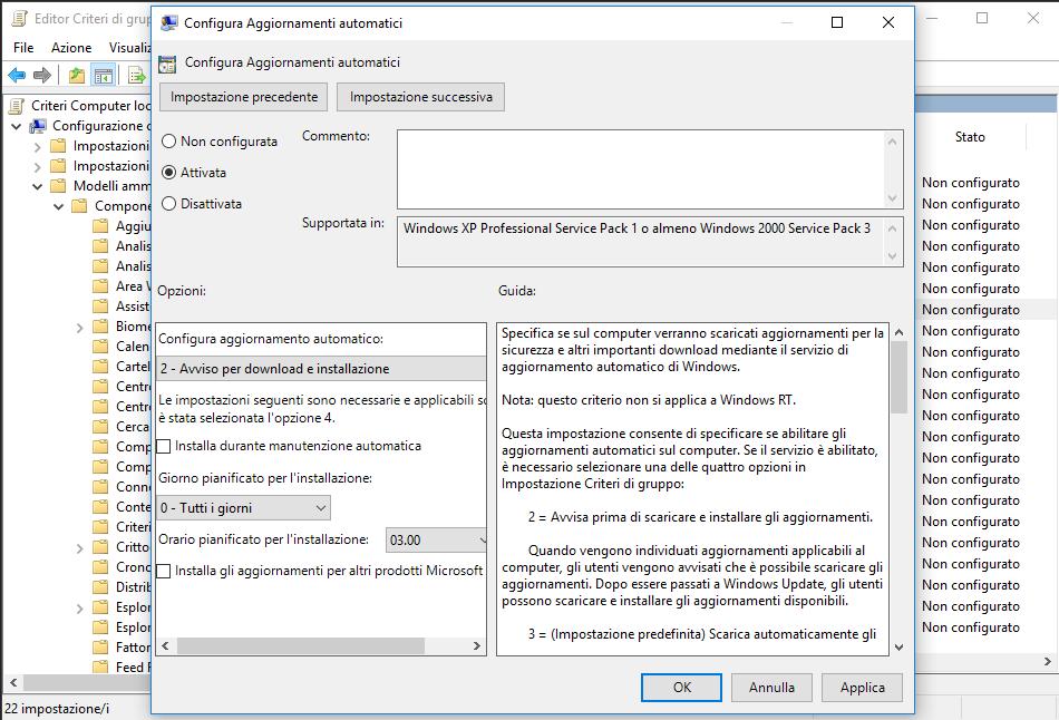 disattivare windows 10 definitivamente