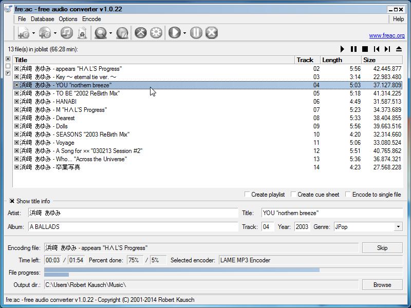 freac-miglior convertitore audio gratuito