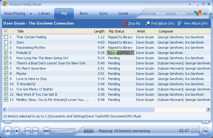 impara a convertire cd in mp3 windows