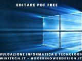 Editare pdf free