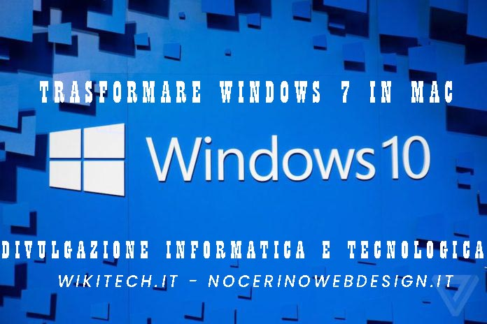 Trasformare windows 7 in mac