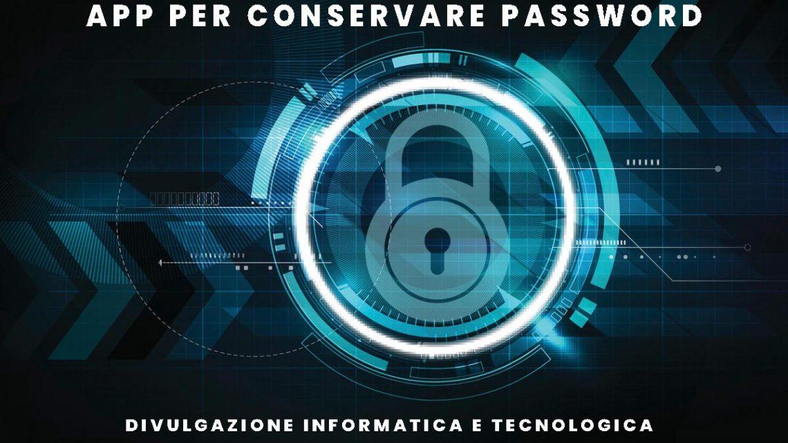 app per conservare password