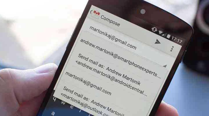 inviare mail tramite smartphone