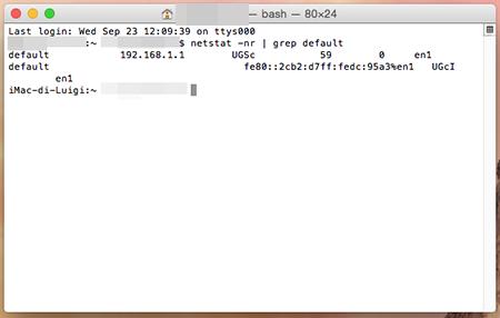 trovare il tuo indirizzo IP