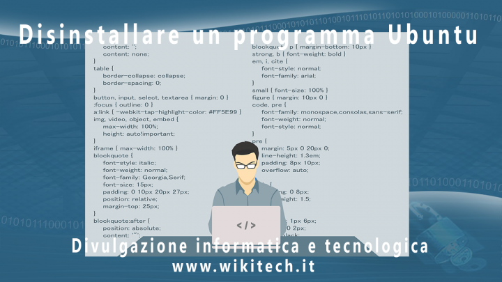 disinstallare programma ubuntu