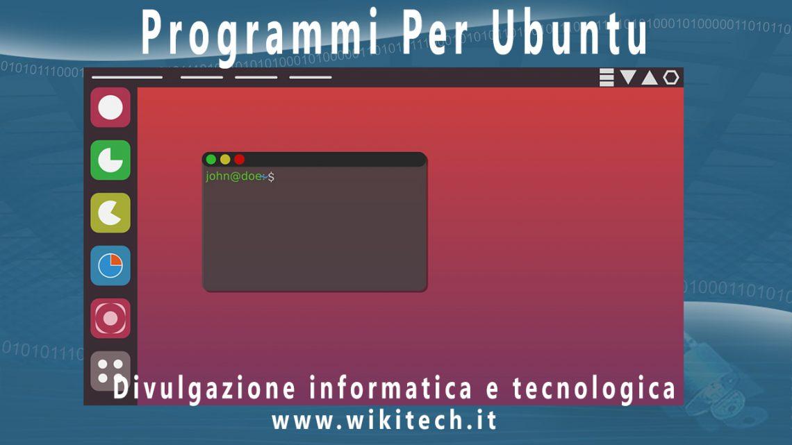 Programmi per Ubuntu