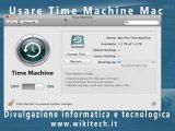 Usare Time Machine Mac