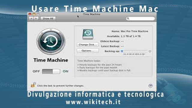 Usare Time Machine Mac