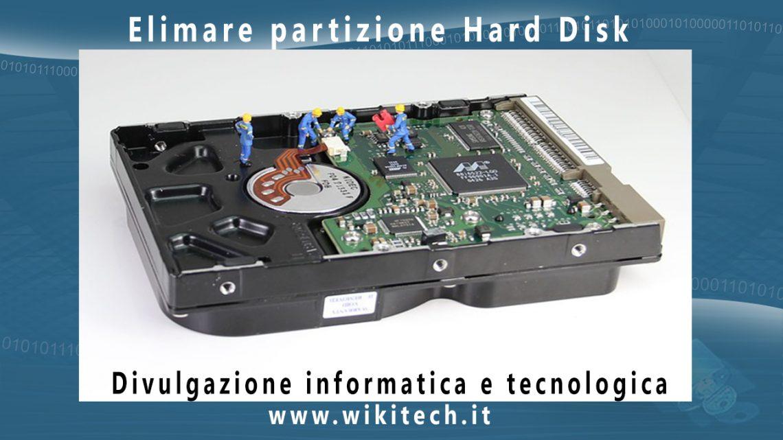 eliminare partizione da hard disk