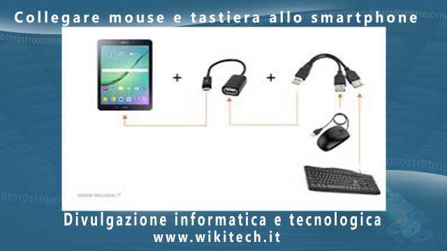 Collegare mouse e tastiera allo smartphone