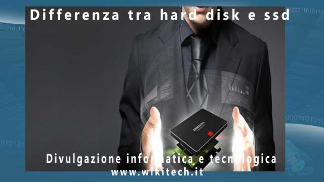 differenze tra hard disk e ssd