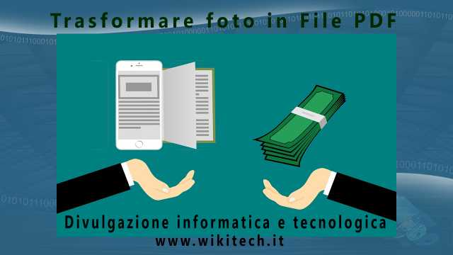Trasformare foto in File PDF